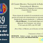89 Aniversario de la Federación Venezolana de Maestros